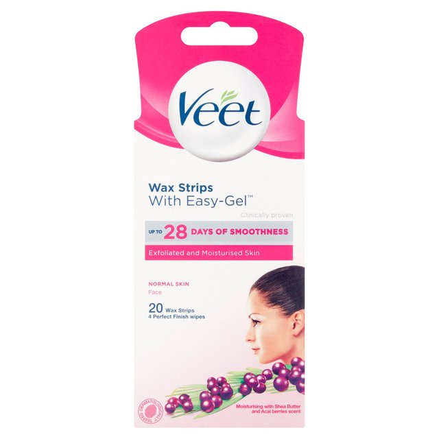 Veet Face Wax Strips Normal Skin With Easygrip Morrisons