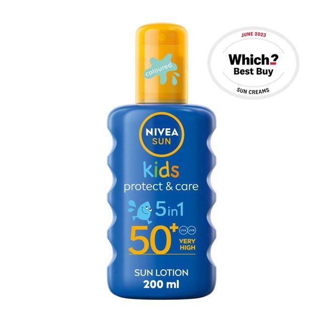 NIVEA SUN Kids Suncream Spray SPF 50+, Coloured