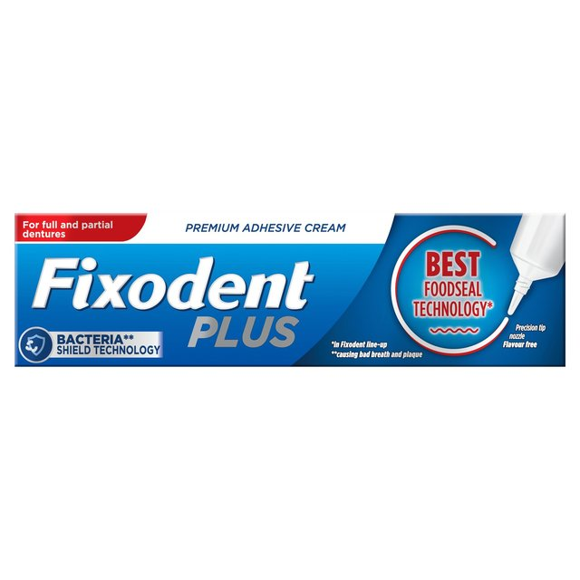 Secure Denture Adhesive >> Morrisons: Fixodent Denture Adhesive Cream Food Seal 40g(Product Information)