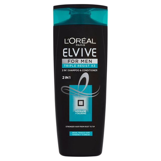 L'Oreal Paris Elvive For Men Triple Resist 2in1 Shampoo & Conditioner