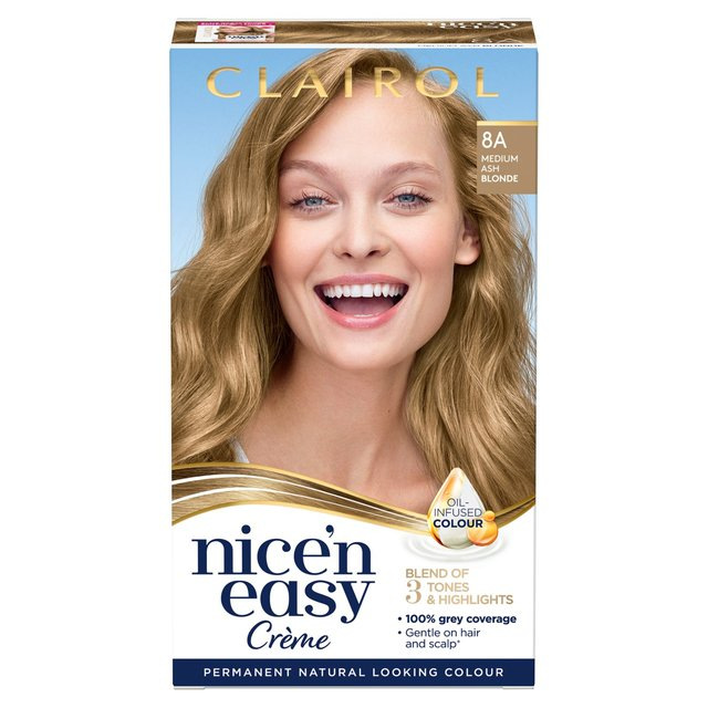 Morrisons Nice 39N Easy Permanent Colour 106 Natural Medium Ash Blonde Ha