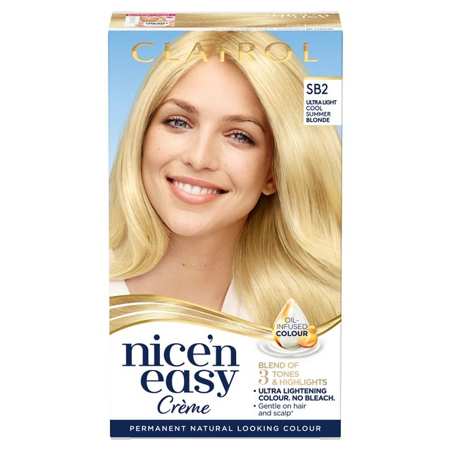 Nice'N Easy Permanent Hair Dye SB2 Ultra Light Cool Summer Blonde