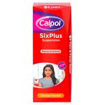 Calpol 6+ Years Sugar Free Orange Liquid Paracetemol