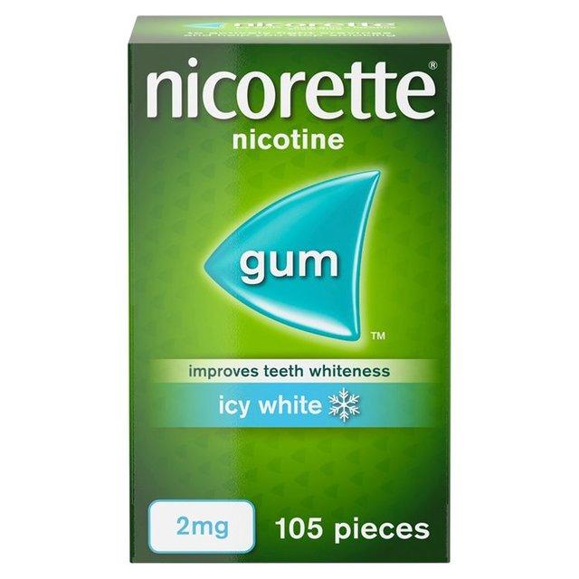 Nicorette Icy White 2mg Gum (Stop Smoking Aid)