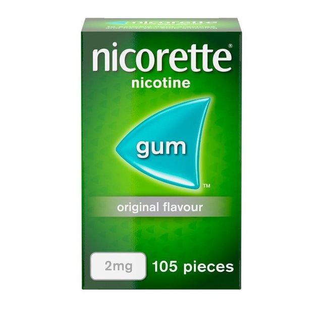 Nicorette Original Nicotine Gum Sugar Free 2mg