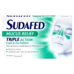 Sudafed Mucus Relief Triple Action Tablets