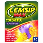Lemisp Max Cold & Flu Blackcurrant Sachets