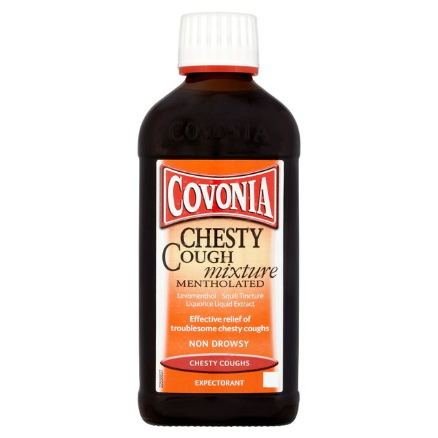 Covonia Chesty Cough Mixture Mentholated Liquorice