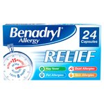 Benadryl Allergy Relief 24 Capsules