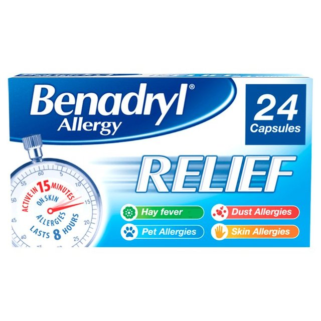 Morrisons: Benadryl Allergy Relief 24 Capsules 24 per pack(Product