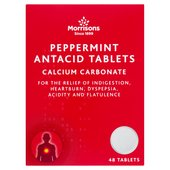 Morrisons Peppermint Antacid Tablets