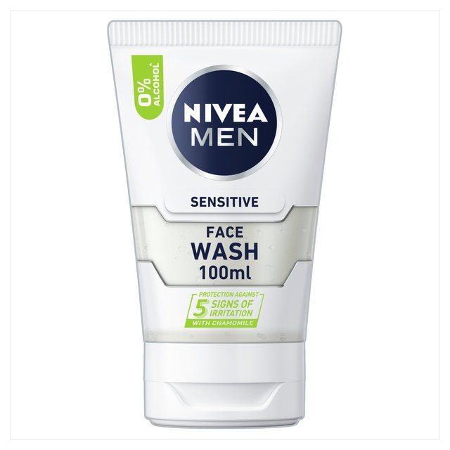 NIVEA MEN Sensitive Face Wash with 0% Alcohol