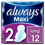 Always Maxi Long Sanitary Towels with Wings