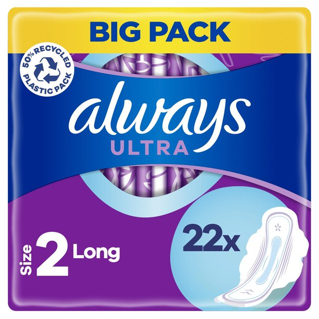 Always Ultra Long Plus Sanitary Towels with Wings Duo Pack