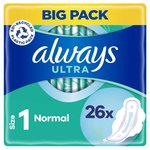 Always Ultra Normal (Size 1) Sanitary Towels Wings