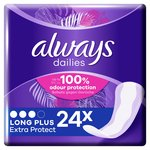 Always Dailies Extra Protect Panty Liners Long Plus 24 liners