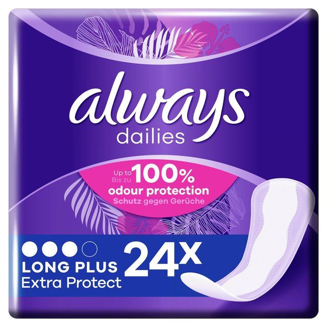 Always Dailies Panty Liners Long Plus