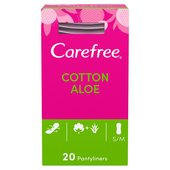 Carefree Breathable Pantyliners with Aloe
