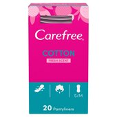 Carefree Cotton Fresh Scented Breathable Pantyliners