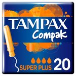 Tampax Compak Super Plus with Applicator Tampons