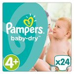 Pampers Baby Dry Size 4+ (Maxi+) Nappies Carry Pack