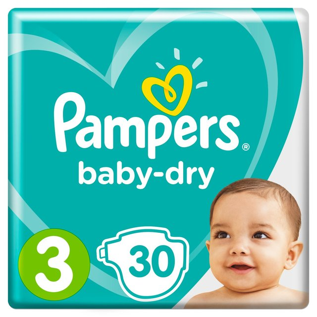 Pampers Baby Dry Size 3 (Midi) Nappies Carry Pack