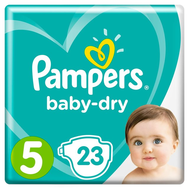 Pampers Baby Dry Size 5 (Junior) Nappies Carry Pack