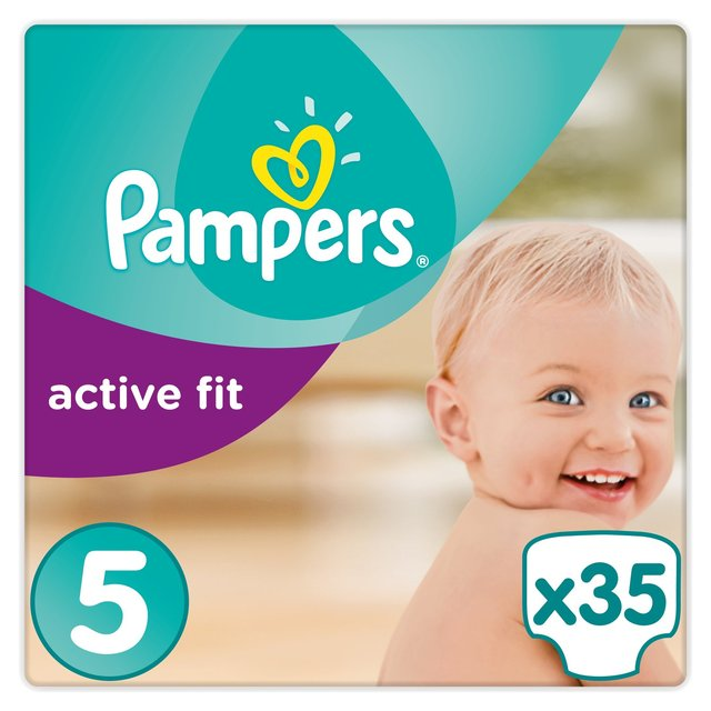 Pampers Active Fit Size 5 (Junior) Nappies Essential Pack
