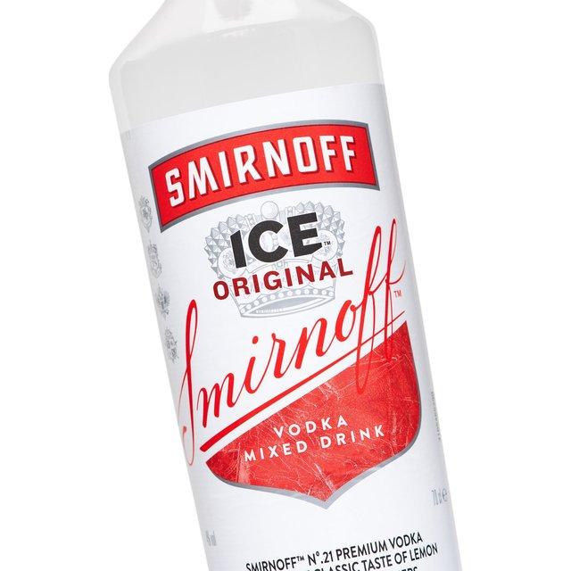 Morrisons smirnoff premium ice triple filtered vodka for Vodka and iced tea drinks