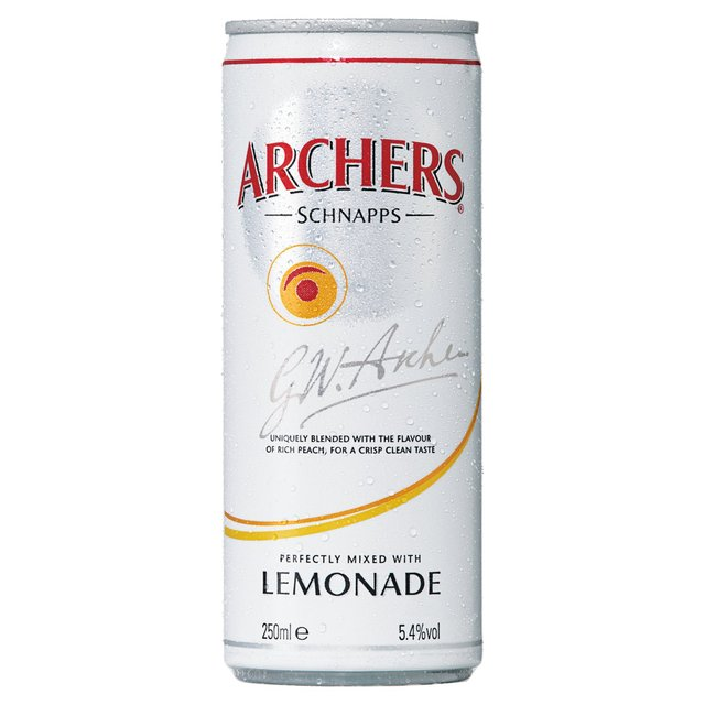 Archers Schnapps with Lemonade