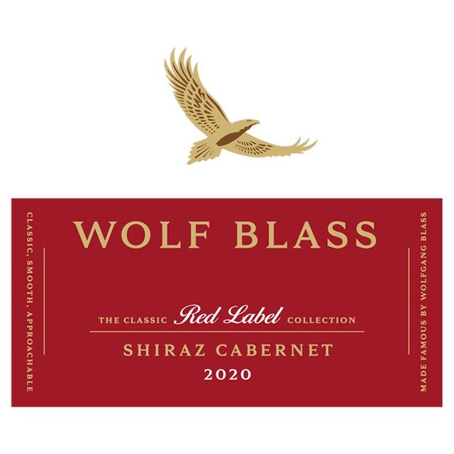 This is a picture of Impeccable Wolf Blass Red Label Shiraz 2020