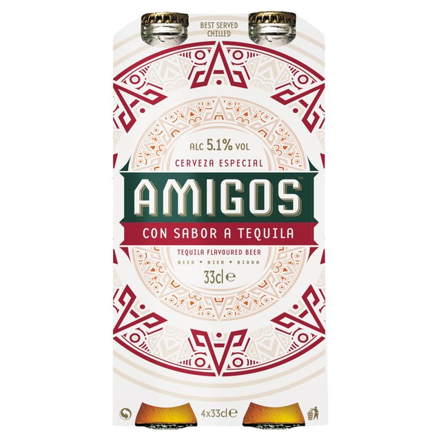 Amigos Tequila Flavoured Beer Bottles