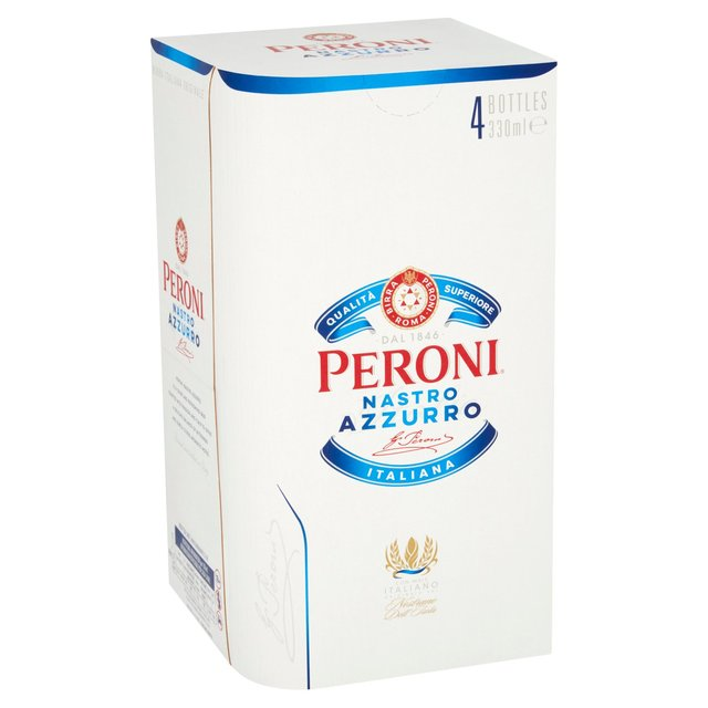 Morrisons: Peroni Nastro Azzurro 4 x 330ml(Product Information)