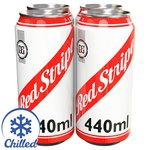 Red Stripe Cans, Delivered Chilled