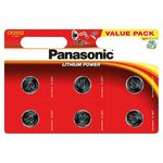 Panasonic Lithium Power Coin CR2032EL/6BP 6 pack