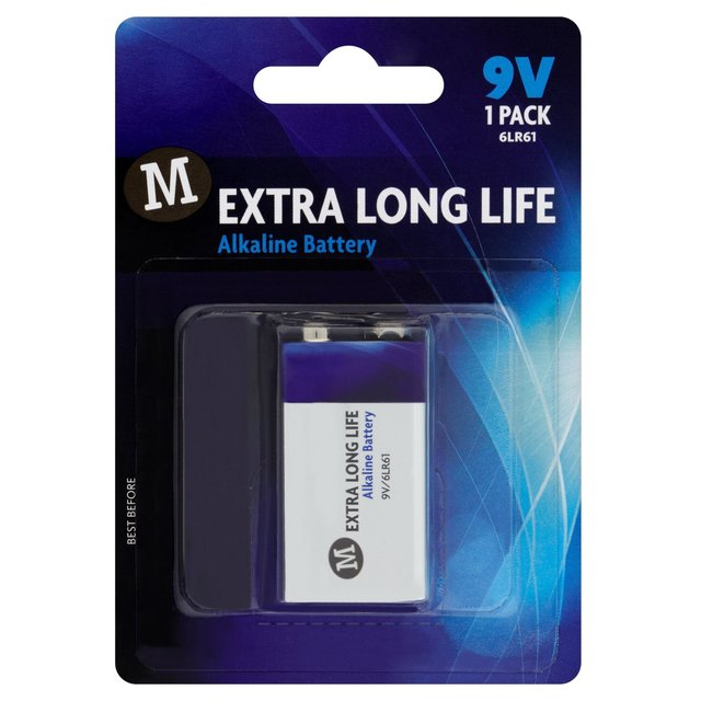Morrisons Extra Long Life Alkaline Battery 9V