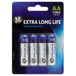Morrisons Extra Long Life Alkaline Batteries AA
