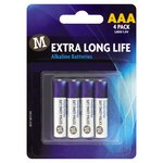 Morrisons Extra Long Life Alkaline Batteries AAA