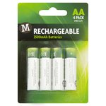 Morrisons Rechargeable Batteries AA