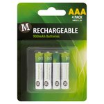 Morrisons Rechargeable AAA Batteries 900mAh