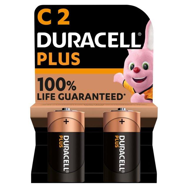 Duracell Plus Power C Alkaline Batteries