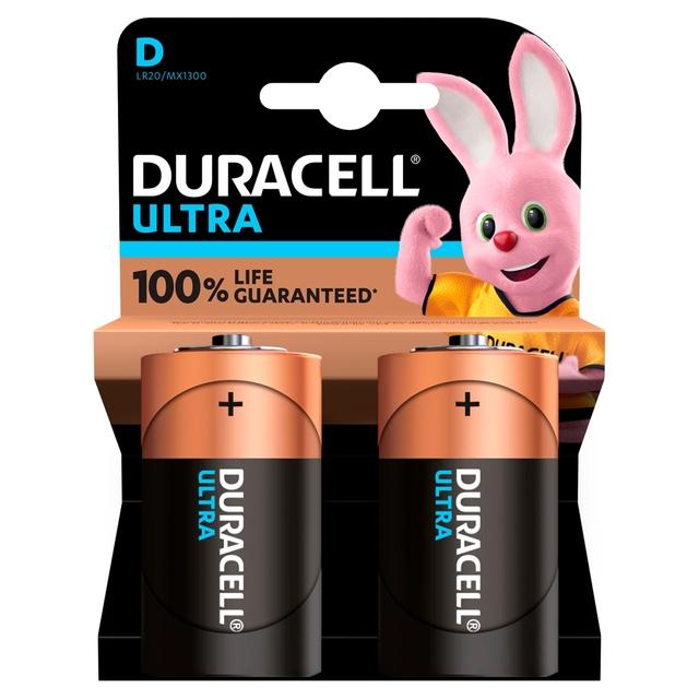 Duracell Ultra Power D Alkaline Batteries