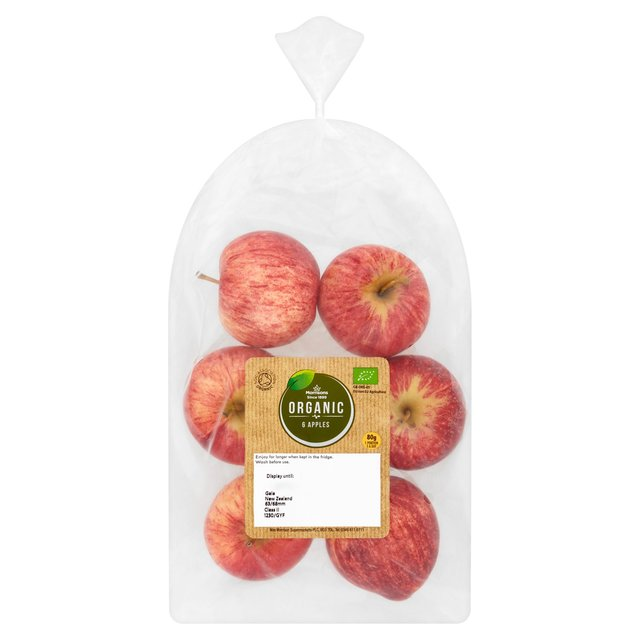Morrisons  Organic Apples  Min 6 Per Pack