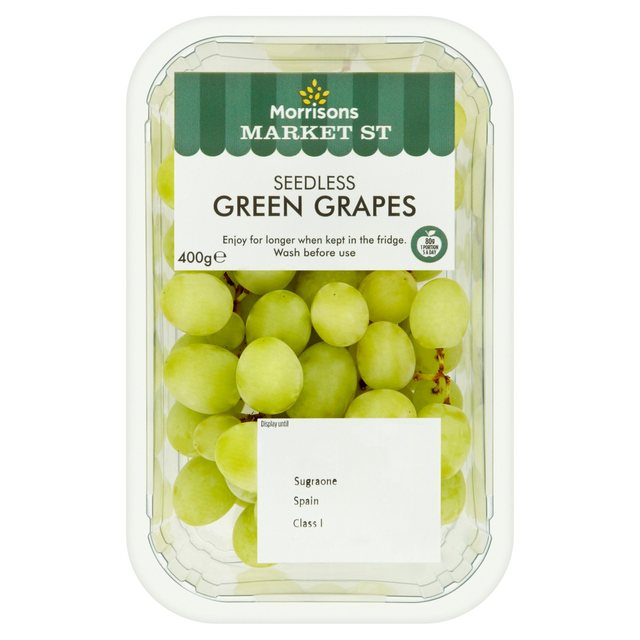 Morrisons: Morrisons Seedless Green Grapes 400g(Product