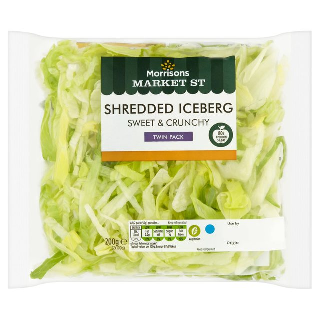 Morrisons: Morrisons Shredded Iceberg Lettuce Twin Pack 2 ...