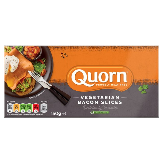 Morrisons: Quorn Bacon Style Slices 150g(Product Information