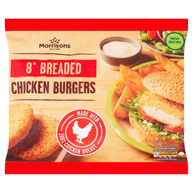 Morrisons 8 Chicken Burgers