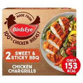 Birds Eye 2 Sticky & Sweet BBQ Chicken Chargrills