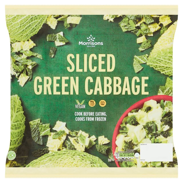Morrisons Sliced Green Cabbage