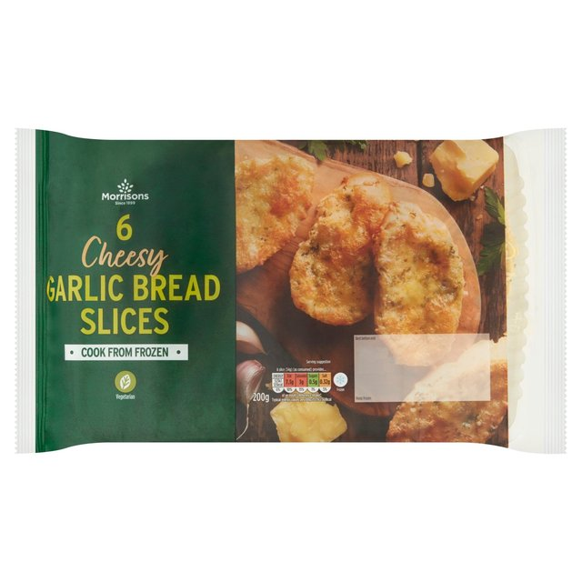 Morrisons 6 Cheesy Garlic Bread Slices